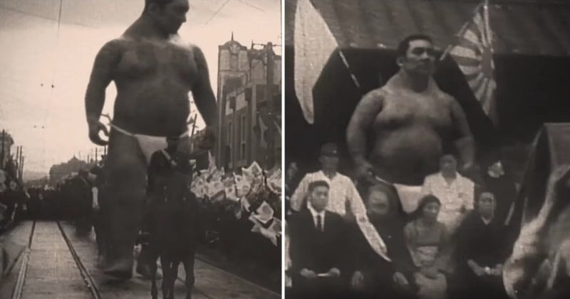Redak snimak čoveka giganta – VIDEO
